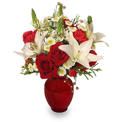 A Christmas flower arrangement is one of the best last-minute gifts around and it adds a fresh touch at holiday parties and get-togethers. So send your warmest holiday wishes for Christmas, December 25th.<br/><br/>