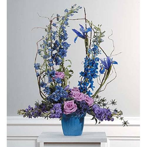 Lavender & Blue Mache Arrangement