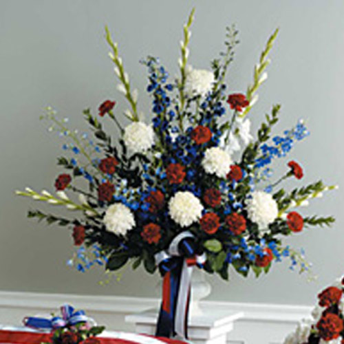 Red, White, & Blue Urn Arrangement