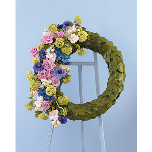 Eucalyptus Scaled Wreath with Floral Accents