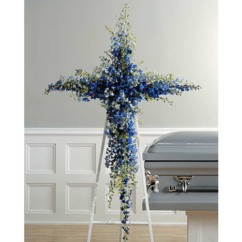 Blue Delphinium Cross