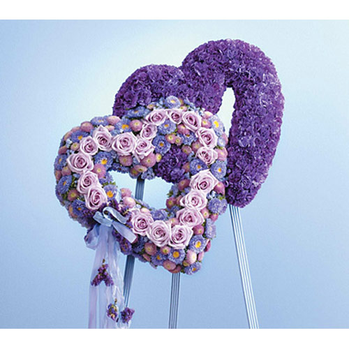 Blue & Lavender Double Heart