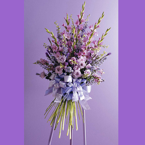 Faux Hand-Tied Bouquet Standing Spray