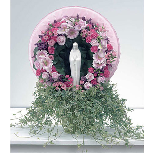 Pink Wreath with Madonna