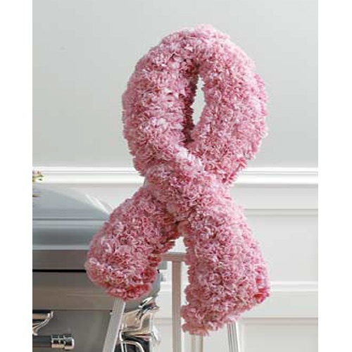 Wylie flower and gift pink ribbon standing spray same day delivery product mightylinksfo
