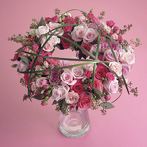 Pink and Magenta Wreath