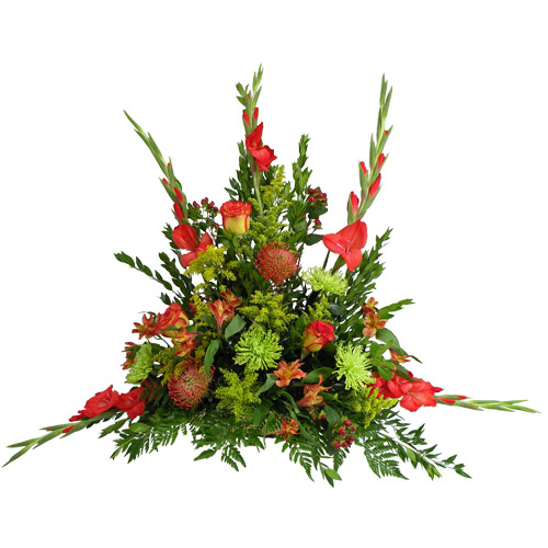 Orange Cushion Splendor Basket