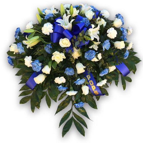 Blue and White Casket Piece
