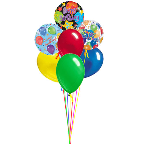 Wylie Flower And Gift Happy Birthday Balloon Bouquet Same Day