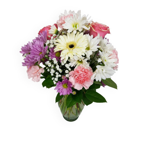 A Wylie Flower Shop exclusive designs. A thoughtful bouquet in pretty pink, lavender, and white tones, is a great gift to send your warmest wishes.<br/><br/>