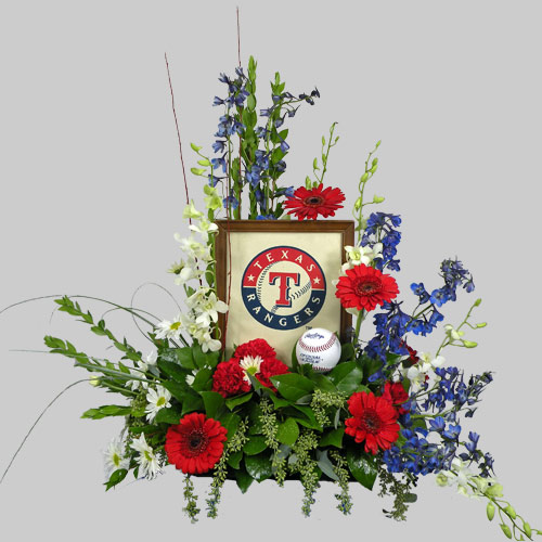 A Wylie Flower Shop exclusive design. For the sport enthusiast, this design expresses team loyalty and pride. Design can be altered only to the limits of your imagination.<br/><br/>